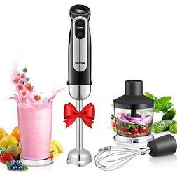 Hand Blender, Aicok 4-in-1 Immersion Stick Blender with 12 S
