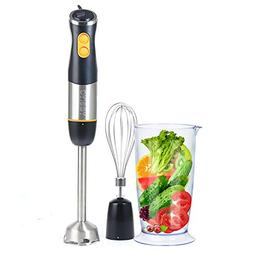 Hand Held Blender Stick 3-in-1 Set with Stainless Steel Blad