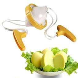 Chrikathy New Hand Powered Golden Egg Maker Two Egg Yolk Whi
