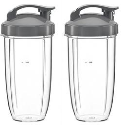NUTRiBULLET 32-Ounce Cups with Flip Top To-Go Lid by NutriGe