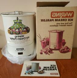 Waring Ice Cream Parlor Ice Cream Maker CF520-1 ~ Vintage NE
