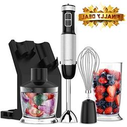 XProject 800W 4-in-1 Hand, Powerful Immersion Blender with 6