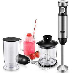 Immersion Blender Ultra-Quick 6-Smart Stepless Speed Hand Bl