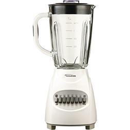 Brentwood JB-920W 350W Glass Jar Blender 12-Speed White Home