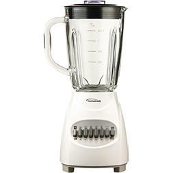 Brentwood JB-920W 350W Glass Jar Blender 12-Speed White Home