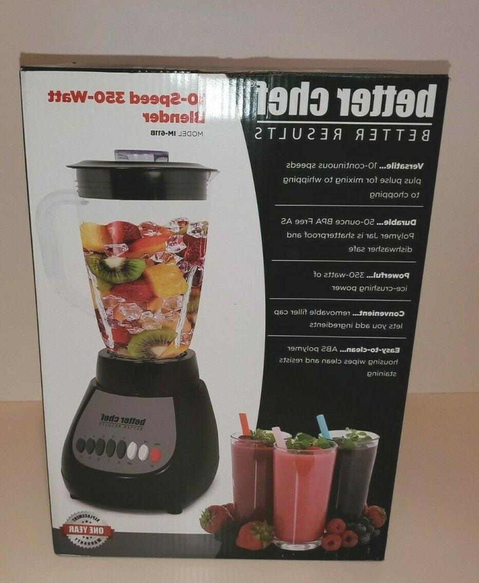 10 speed 350 watt countertop kitchen blender