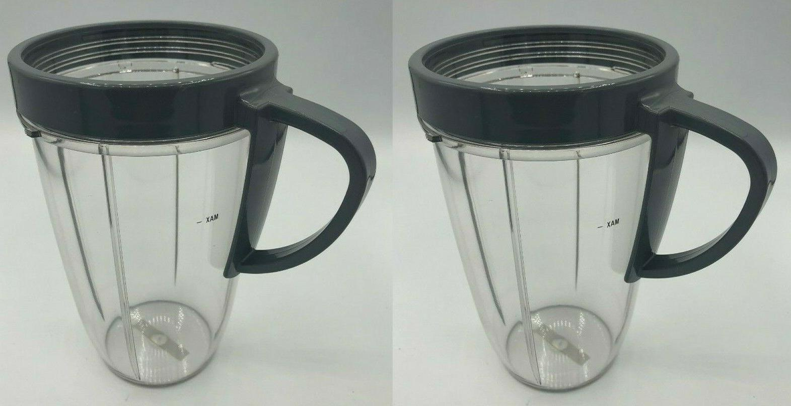 2 x NutriBullet Nutri Bullet 24 OZ Tall Cup with Handled Lip
