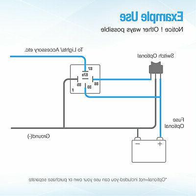 5x 12V SPDT Automotive 5 Wires JD1914 30/40 Amp