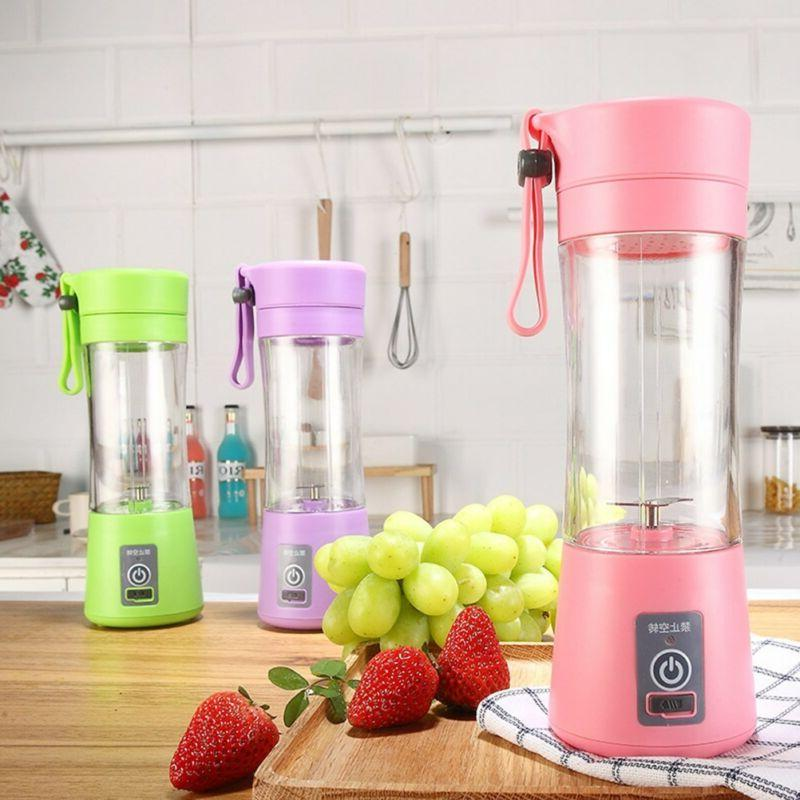 380ml USB Electric Fruit Juicer Handheld Maker Blender Bottl