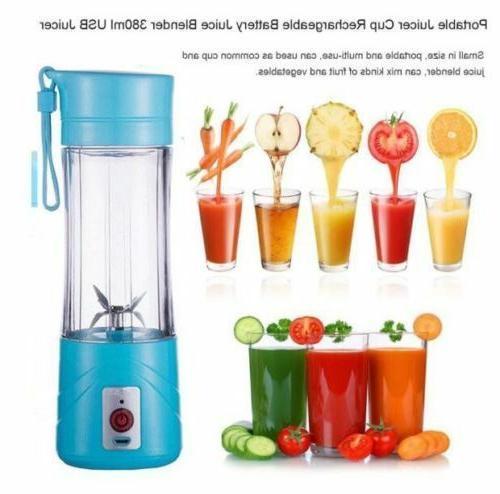 380ml usb juicer cup handheld fruit smoothie