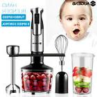 AUGIENB 4in1 8 Speed Immersion Hand Blender Mixer Food Chopp