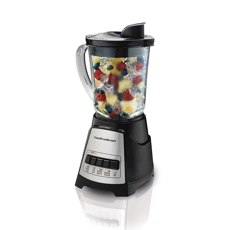 Hamilton Beach  Blender with Glass Jar, For Shakes & Smoothi