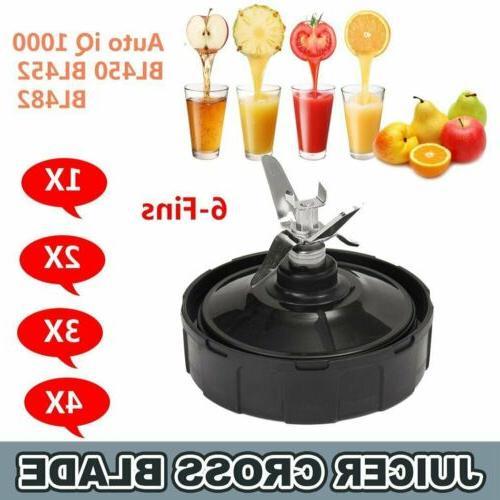 Blade cup/cup lid/gasket 6-fin for Nutri Ninja Blender BL450