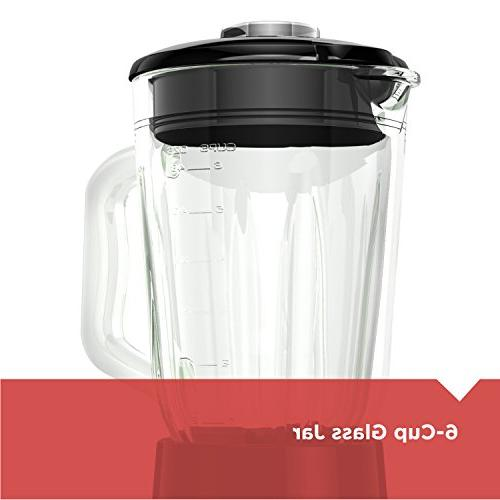 BLACK+DECKER FusionBlade Blender Settings, Red,