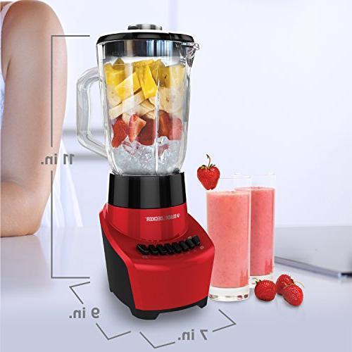 BLACK+DECKER 6-Cup Jar, 12-Speed Settings, Red, BL1110RG