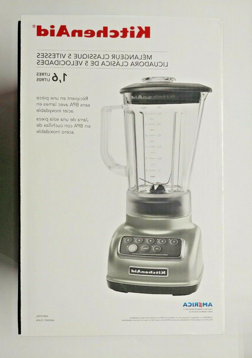 KitchenAid KSB1570SL 5-Speed Blender with 56-Ounce BPA-Free