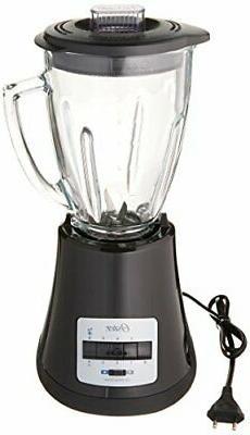 Oster BLSTMG Black 8 Speed 6-Cup Glass Jar Blender, 220 Volt