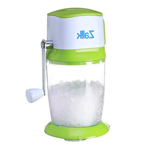 Zalik Ice Crusher Manual Hand Crank Ice Grinder For Fine Or
