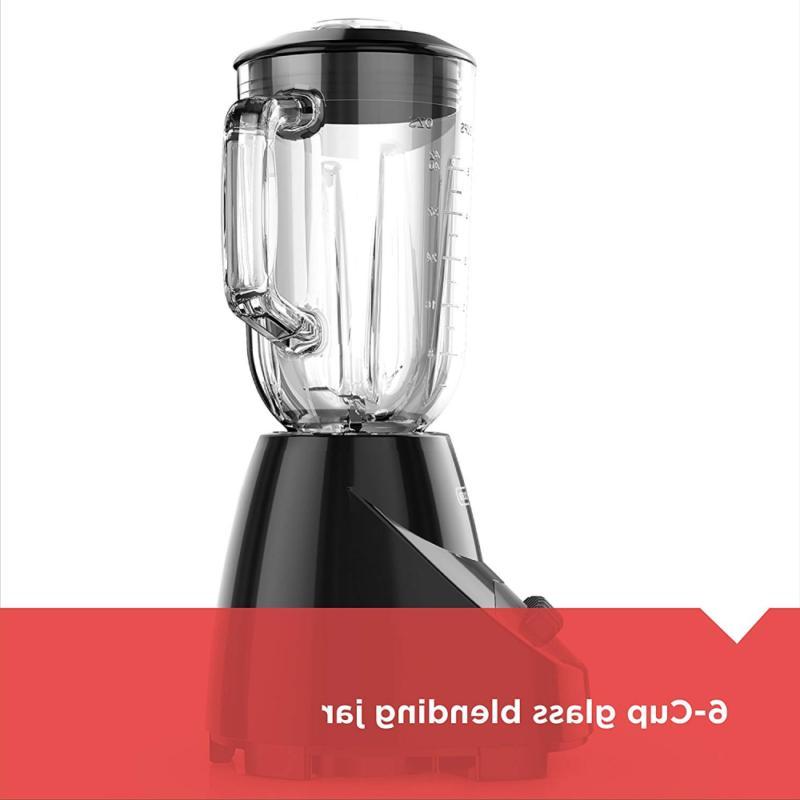 BLACK+DECKER Glass Jar Settings Black