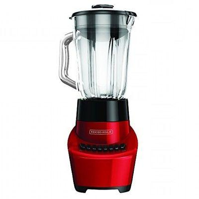 BLACK+DECKER FusionBlade 6Cup Glass Settings, Red,