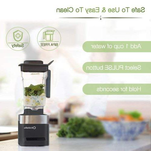 ODA Professional Commercial Personal Maker 39,000 RPM High-Speed Drink Crusher with Steel Pitch,