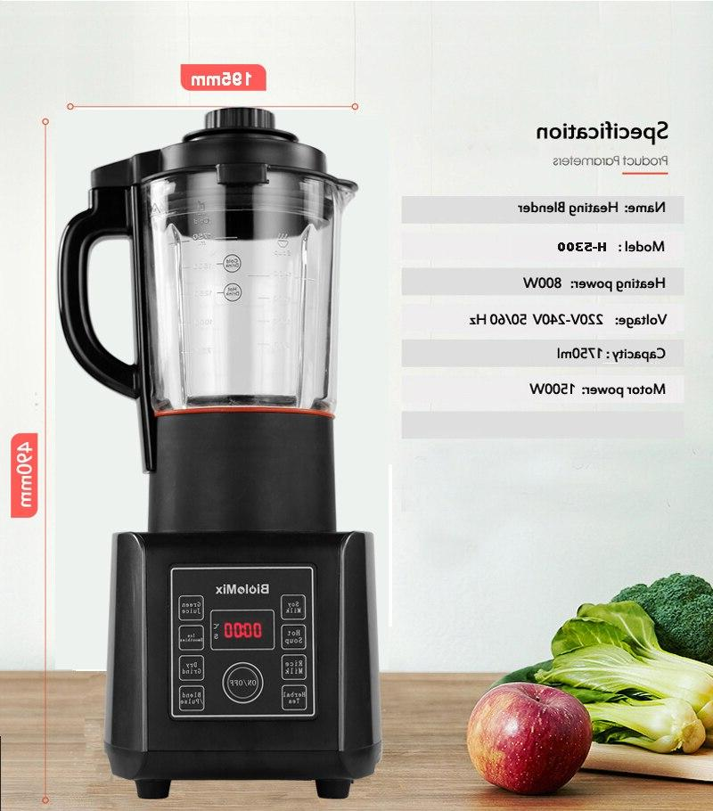 Digital BPA FREE <font><b>Glass</b></font> <font><b>Blender</b></font> Soup Maker High Power Food Grinder Processor