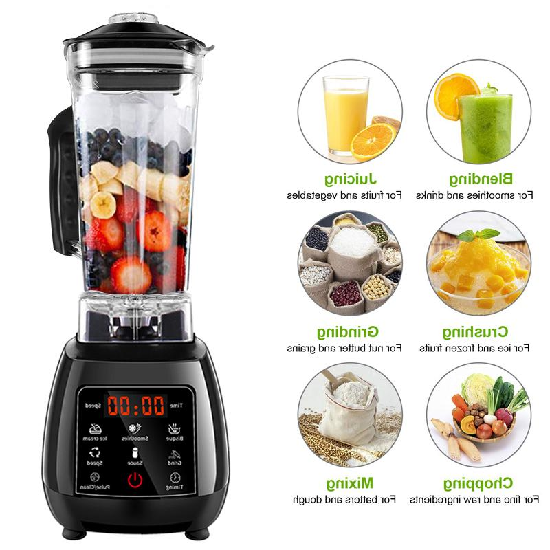 Digital 3HP Automatic 2200W Power Mixer Food Processor Smoothie