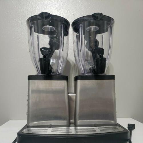 double smoothie stainless steel bar blender server