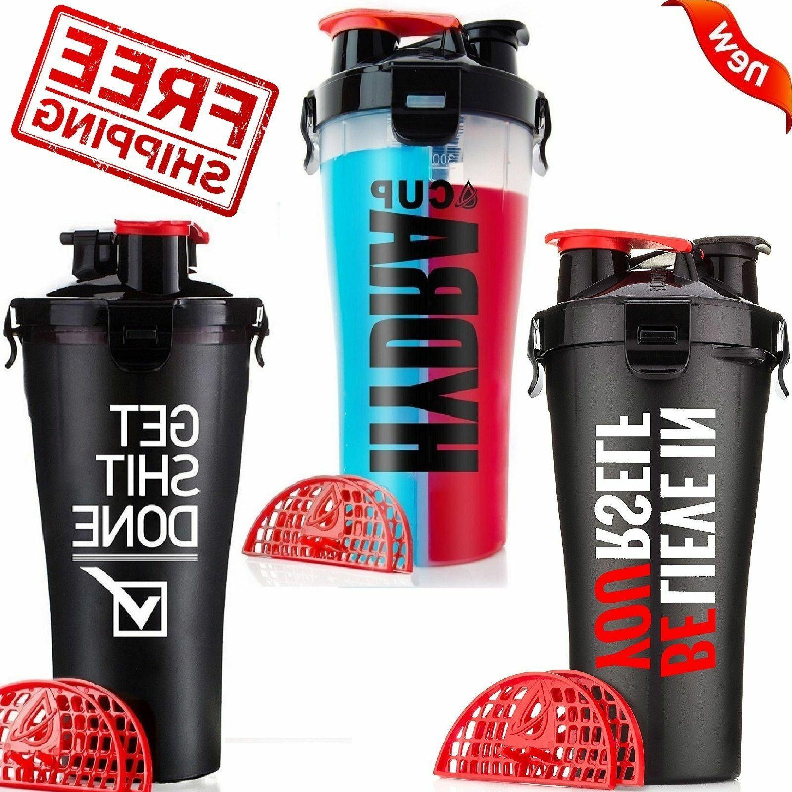 Dual Shaker Protein Blender Mixer Hydra Cup 2 Compartment Sp