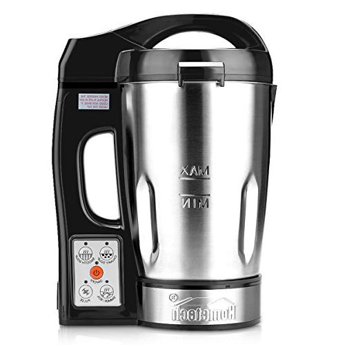hometech 800w electric jug stainless steel soup maker machin