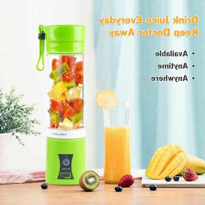 Juicer Mini Electric Portable USB Rechargeable Blender Mixer 400ML