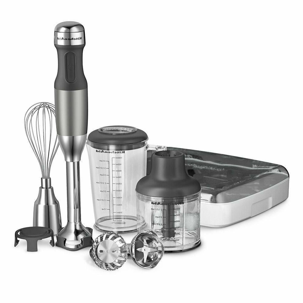 KitchenAid KHB2561CU 5-Speed Hand Blender - Contour Silver -