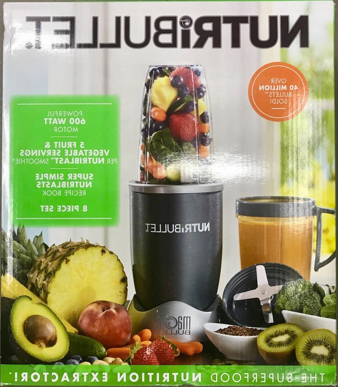NEW Magic Bullet NutriBullet NBR-0801 600-Watt Blender 8 Pie
