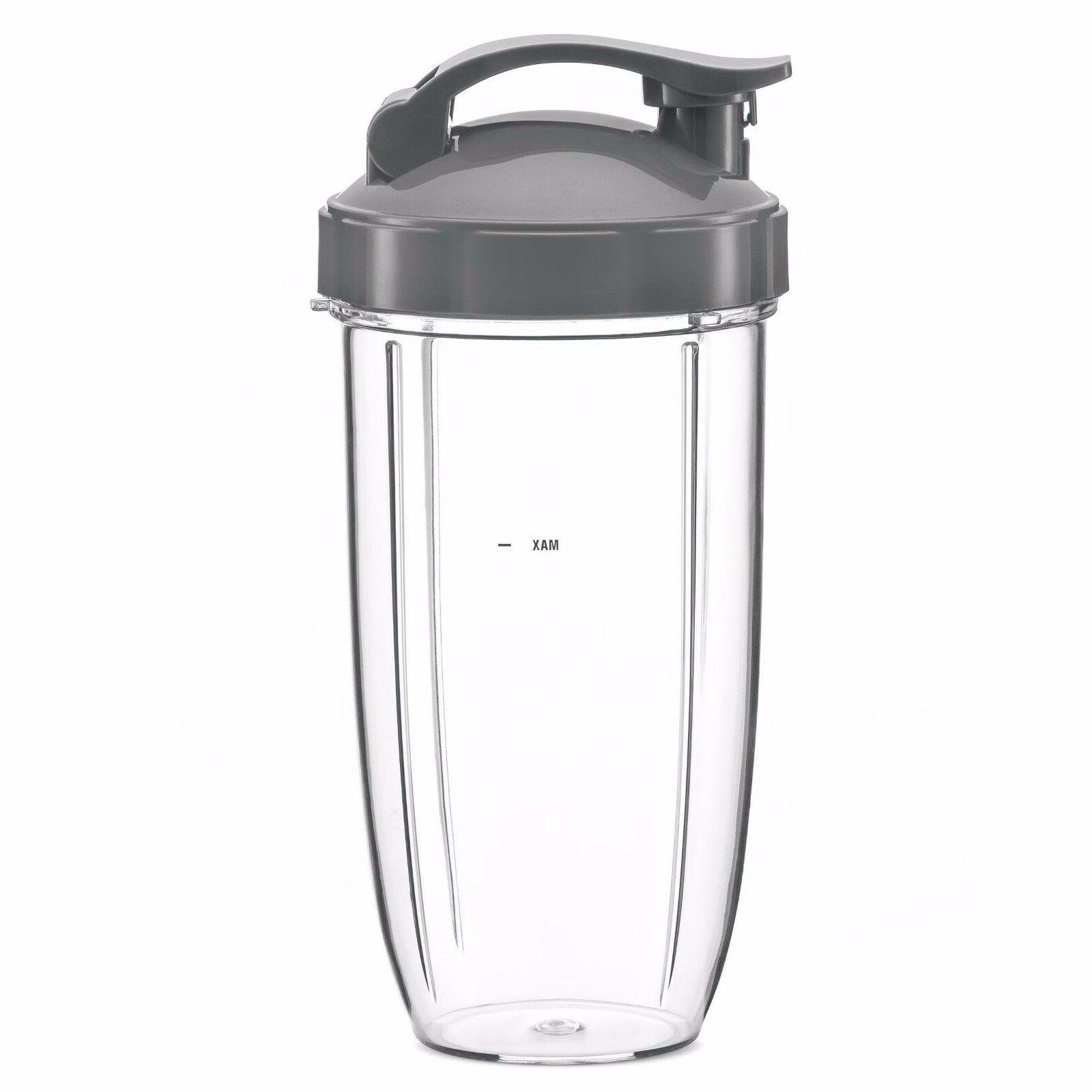 Nutri Bullet 32 oz. Large Cup with Flip Top Lid Replacement