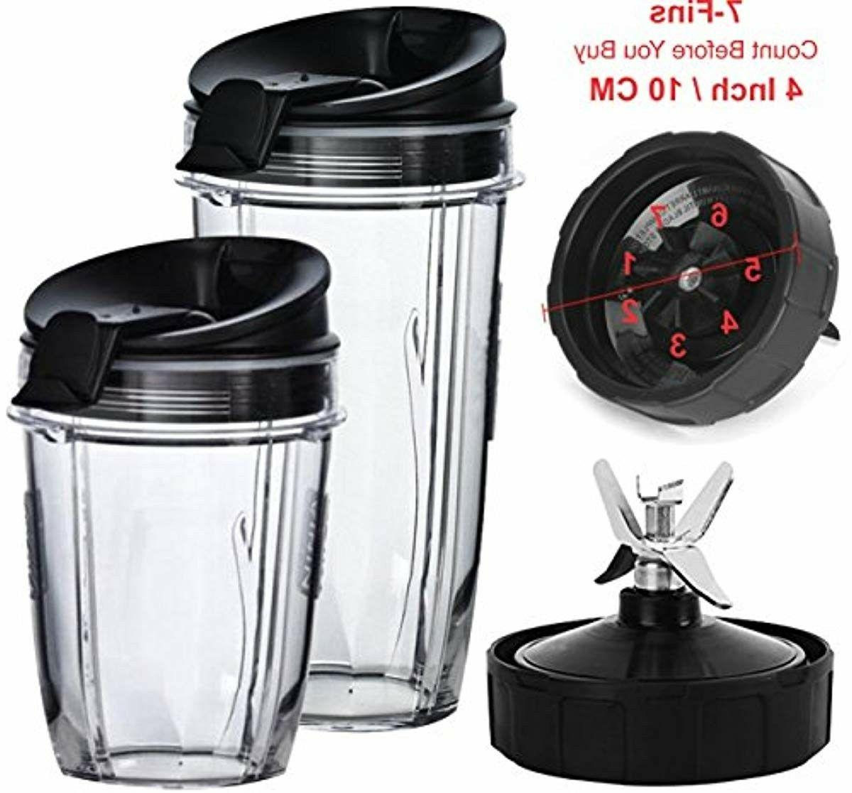 Nutri Ninja Blender Cups and Blade  Set | 5-Piece Replacemen