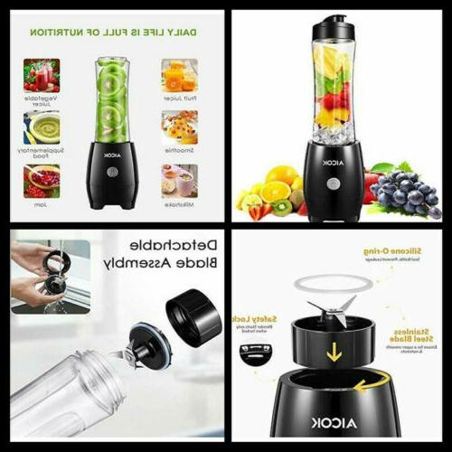 Personal Smoothie Blender with 20 oz Bottle 300W Single Serv