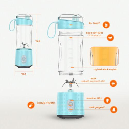 Portable Blender Personal USB Rechargeable and