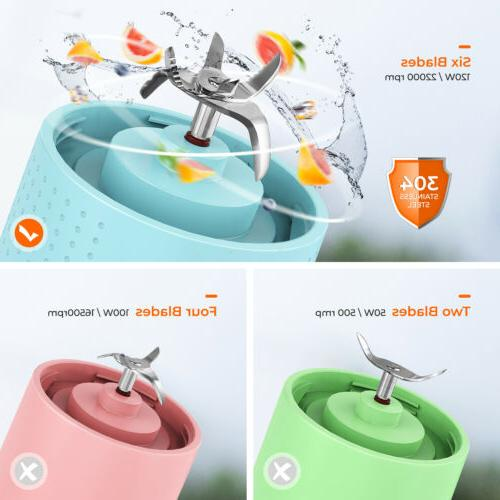 Portable Blender USB Rechargeable and