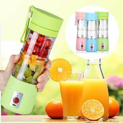 Portable Camping USB Electric Fruit Juicer Smoothie Maker Bl