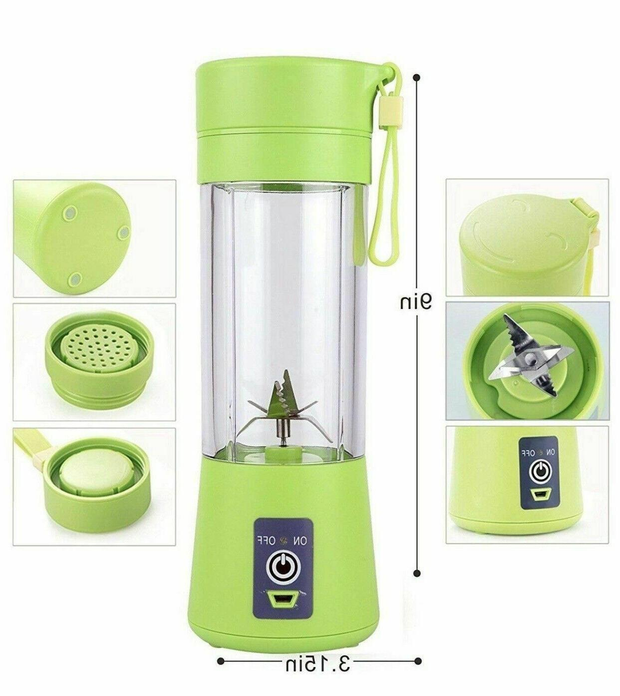 Portable Blender 6-Blade Mixer USB Rechargeable