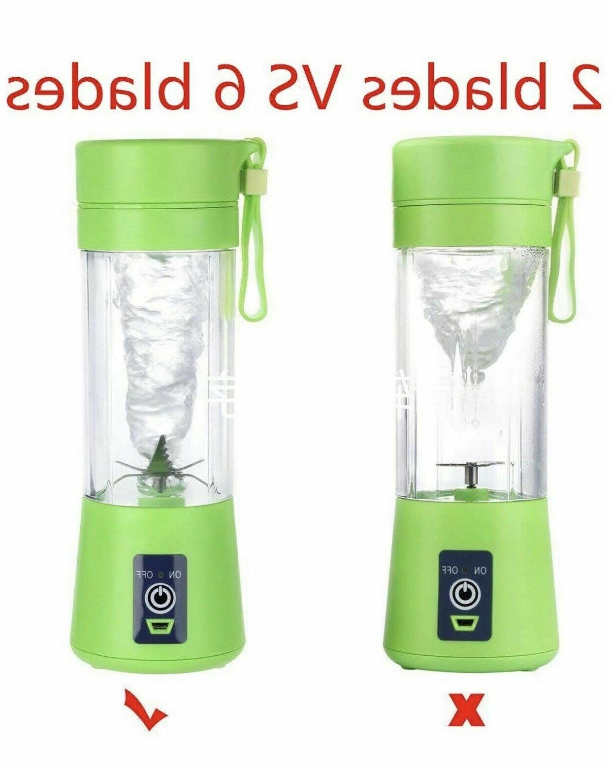 Portable Blender Bottle 6-Blade Juicer Mixer USB iBlend