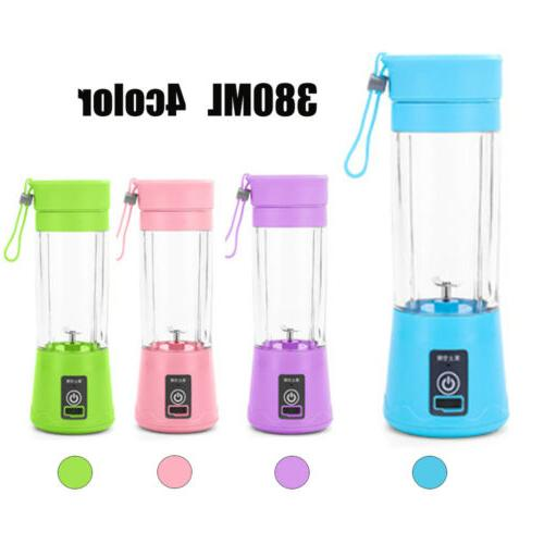 380ML NEW Blender USB Rechargeable Cup Mixer Squeezers