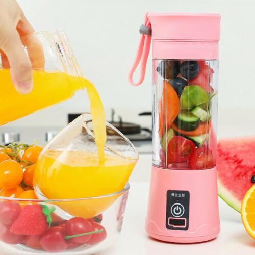 380ML NEW USB Rechargeable Juicer Cup Jet Squeezers