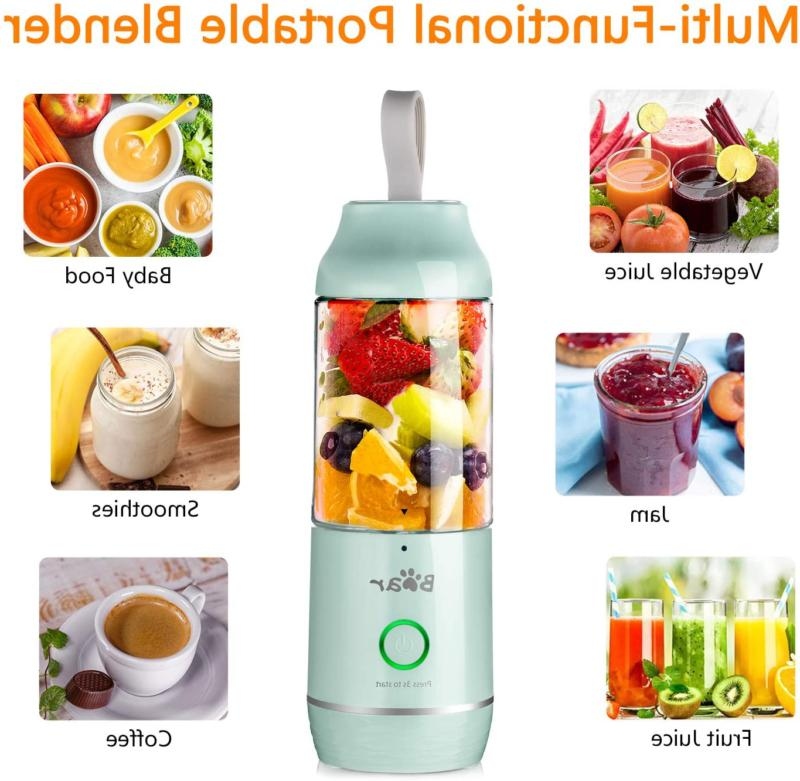 Portable Blenders Shakes And Smoothies USB Rechargeable Mini