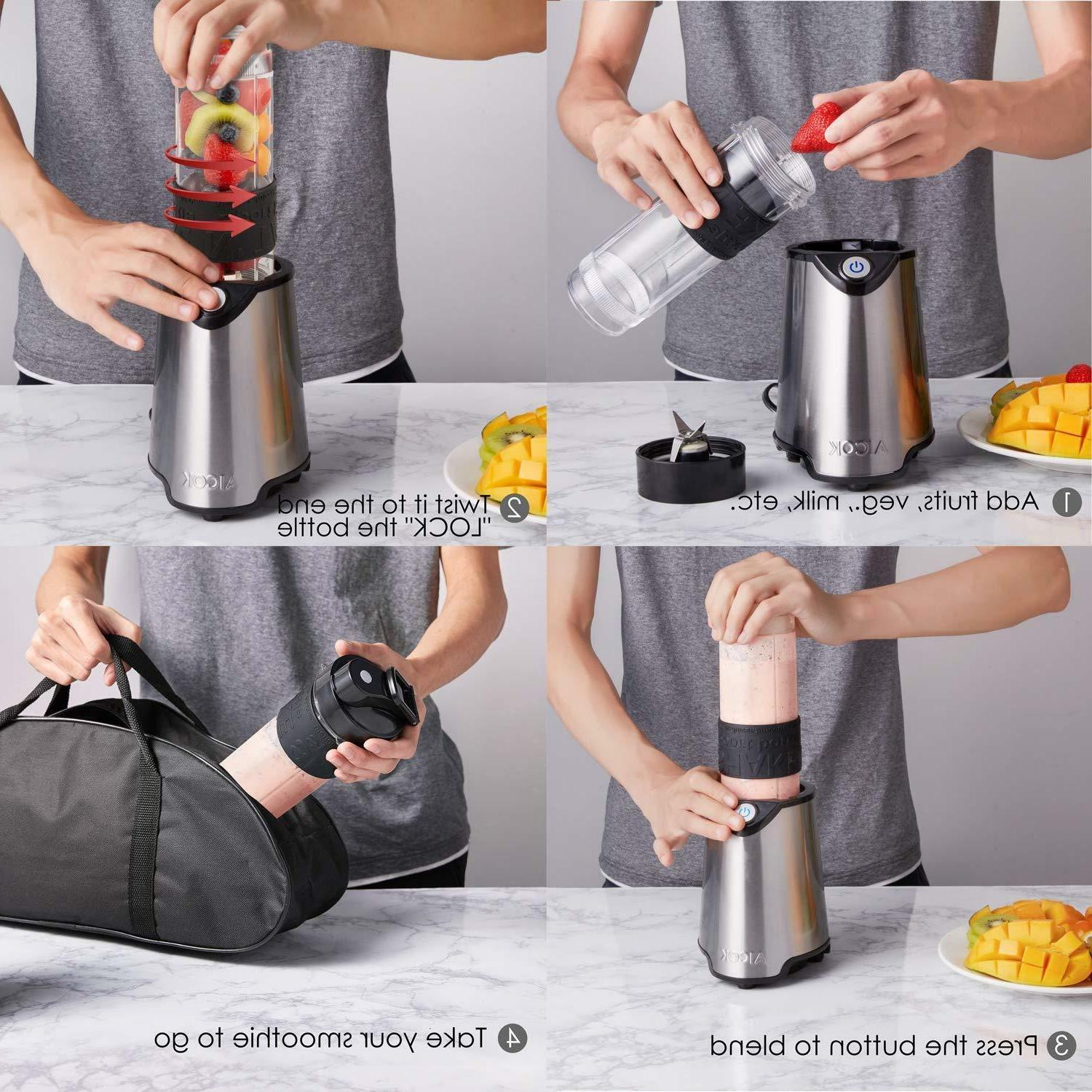Portable Travel Blender BPA Free Bottle Mixer