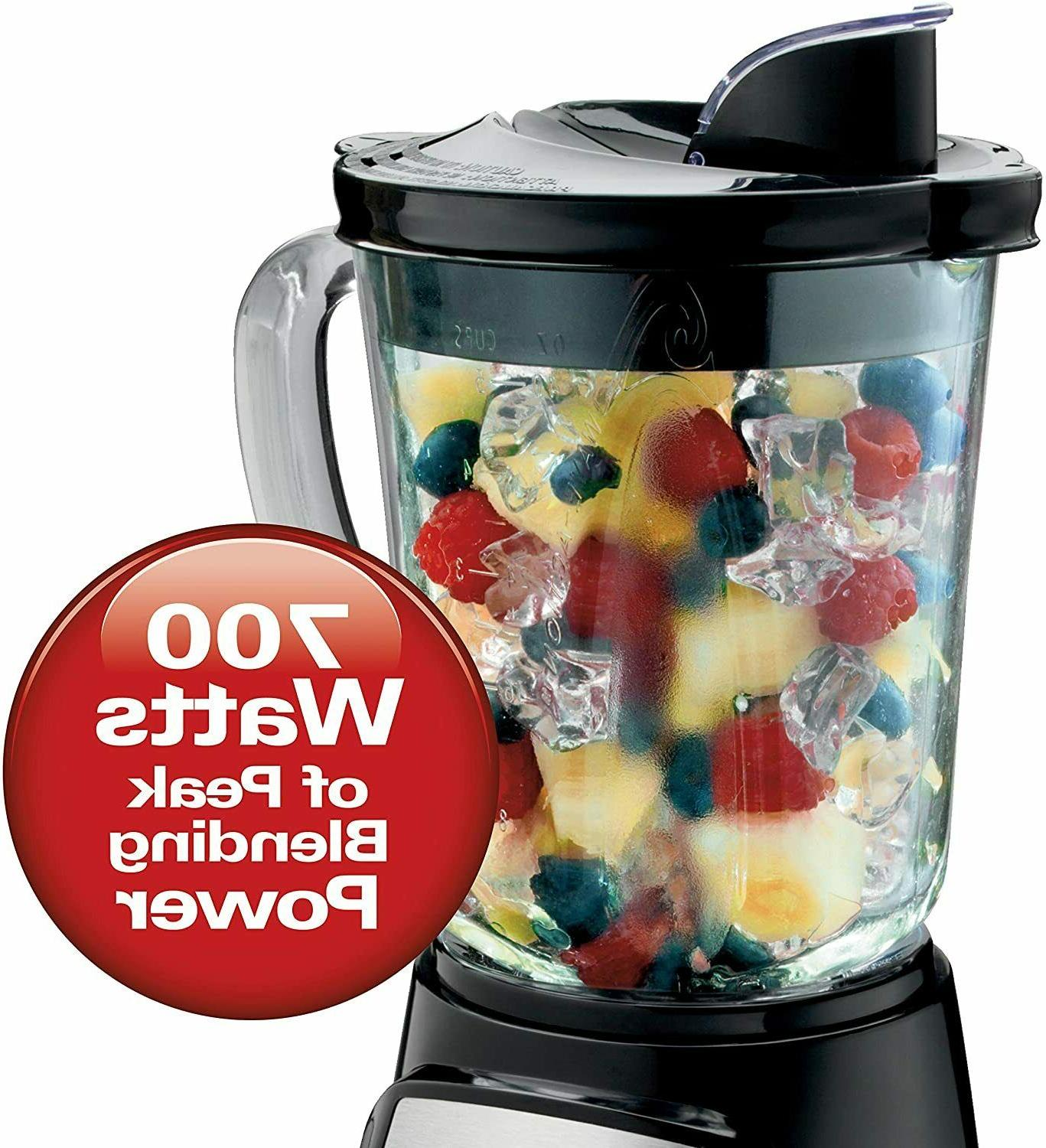 Hamilton Beach Power Elite Blender with 12 Functions for Pur