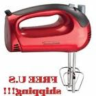Red Electric Hand Mixer 5 Speed 150 Watt Handheld Blender Mi
