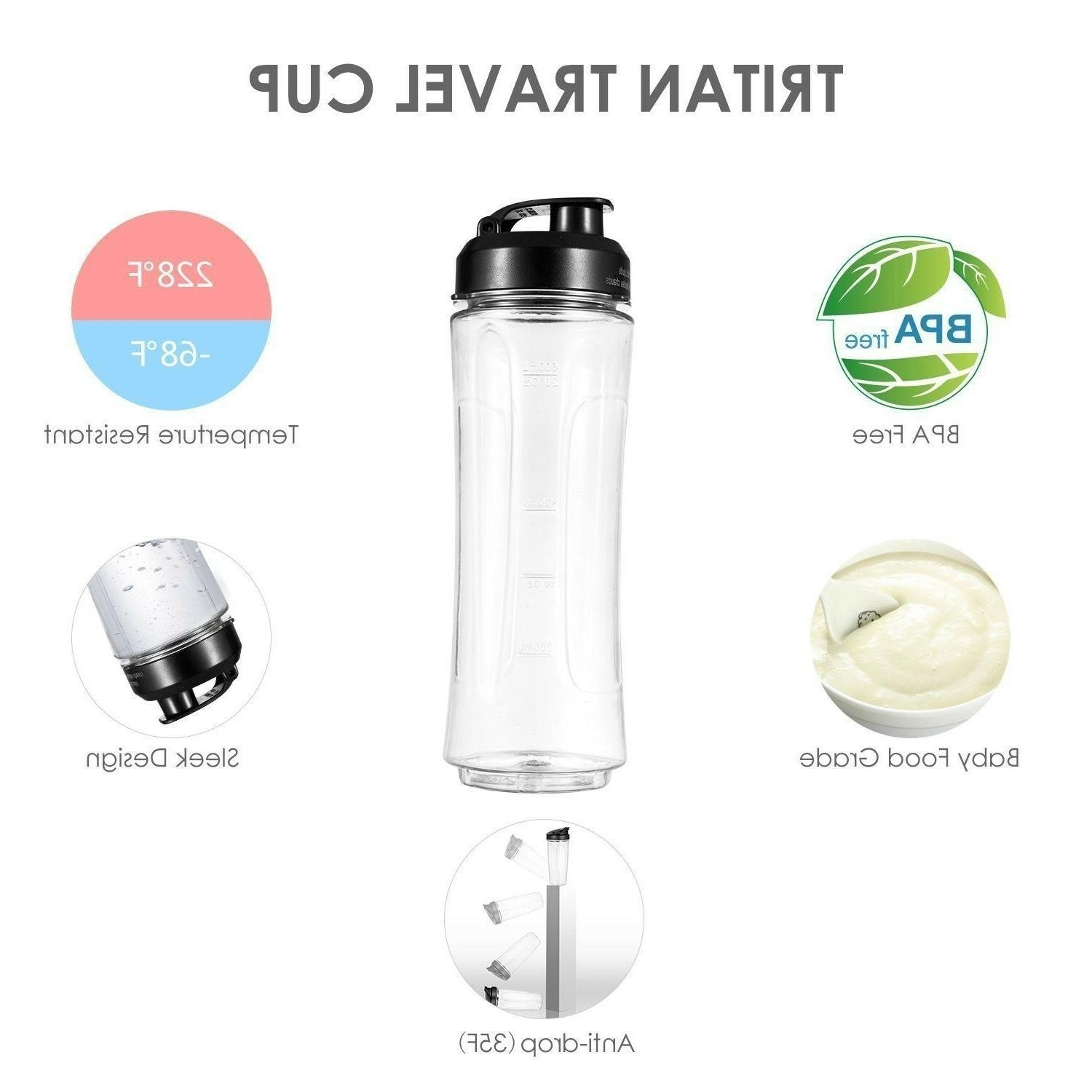 Smoothie Blender Personal Blenders with Bottle, Electric