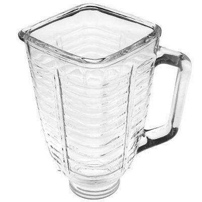 square glass blender replacement jar