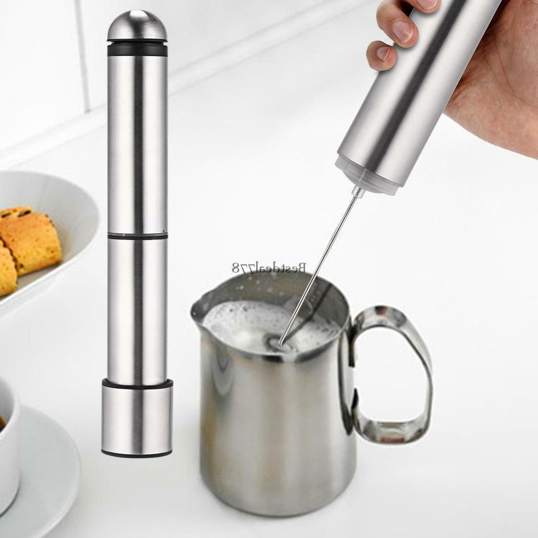 Stainless Steel Milk Frother Kitchen Home Bar Coffee Tea Cho